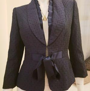Tahari Luxe Navy Blue Blazer Size 2